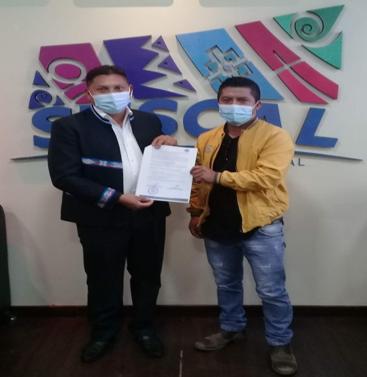 FIRMA DE CONVENIO INTERINSTITUCIONAL ENTRE EL GAD PARROQUIAL Y EL GOBIERNO INTERCULTURAL PARTICIPATIVO DEL CANTÓN SUSCAL.