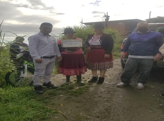 ENTREGA DE 90 KITS DE HUERTOS FAMILIARES PARA LOS ADULTOS MAYORES Y PERSONAS CON CAPACIDADES ESPECIALES DEL GAD.